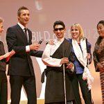 In Tibet hatte Sabriye Tenberken (2.v.r.) ein Ausbildungszentrum für blinde Kinder aufgebaut.