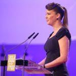 Als Laudatorin auf der Bühne: Unternehmerin Dana Schweiger