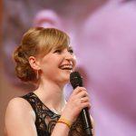 Preisträgerin Anja Kersten auf der Bühne