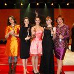Sie wurden an diesem Abend gefeiert: Katja de Braganca, Salome Saremi-Strogusch, Vanessa Velte, Anja Kersten und Werra Röttgering