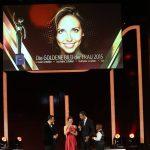 Die nächste Preisträgerin des Abends ist Nathalie Schaller, hier mit ihrem Paten Guido Maria Kretschmer, Kai Pflaume und Joshua