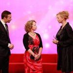 Kai Pflaume, Beate Alefeld-Gerges und Veronica Ferres