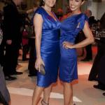 Ladys in blue: Birgit Schrowange und Nazan Eckes