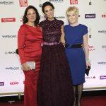 Preisträgerin Christine Wichert mit Patin Lilly Becker und BILD der FRAU Chefredakteurin Sandra Immoor