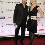 Hannes Jaenicke mit Designerin Julia Starp